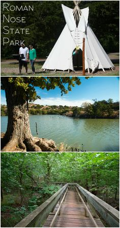 Summer is the perfect time for teepee camping, hiking and aquatic fun at Roman Nose State Park in western Oklahoma.