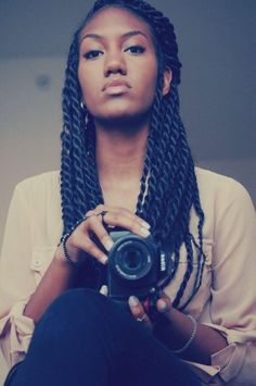 Big kinky twists.. want this hairstyle next