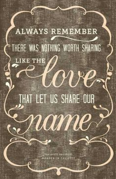 Love that made is share out name. Love this! Totally getting something drawn up for our wedding corner