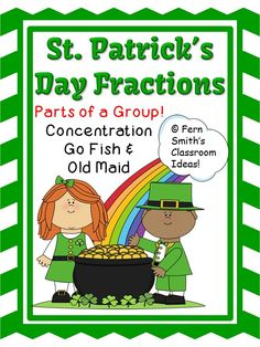 Fractions Center Game - Parts of a Group Center Games for St. Patrick's Day #TPT {$paid}