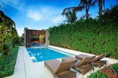 aménagement extérieur de jardin et clôture avec des plantes vertes