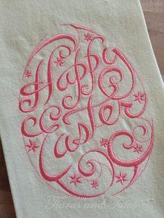 Celebrate Easter Bath Tip Towel NWT Embroidered Design