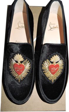 60c90fa2f98b Christian Louboutin Mi Corazon Smoking Loafer Ballet Flats size 37.5 An  ornate Christian Louboutin patch heightens
