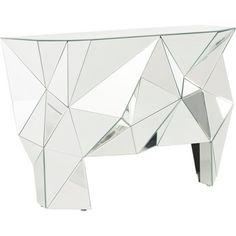Diese Konsole in Silberfarben bringt Ihren Flur oder Eingangsbereich zum Glänzen! Die auffällige Optik macht die Kommode zum Highlight!