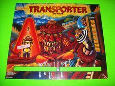 Bally TRANSPORTER 1989 Original NOS Pinball Machine Translite Backglass Artwork #Bally #Transporter #PinballTranslites