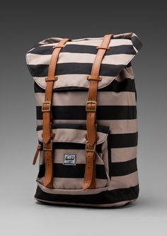 ee9bb29155c Herschel Supply Co. Little America Backpack in Brown (black   taupe) - Lyst
