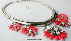 Silver Flower Necklace $28 www.monmarie.com
