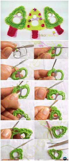 Repeat Crochet Me: Crochet Pop Tab Christmas Tree Ornament Free Patte...