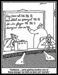 While on my comic bender: My other favorite syndicated comic of all time is The Far Side. Gary Larson's creation spawned the world of absurdist comic humor. His comics are all at once ridiculous,. Comics Und Cartoons, Far Side Cartoons, Far Side Comics, Funny Cartoons, Funny Comics, Bc Comics, Cartoon Humor, Comics Online, Cartoon Art