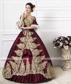Classic 18th Century Marie Antoinette Inspired Dress Wedding ...