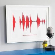 A personalized sound wave print. | 33 Things That Belong In Every Music Lover's Home