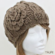 Flower Hat Woman Womens Hats Knit Hats  by AnnasFashionJewelry, $16.00
