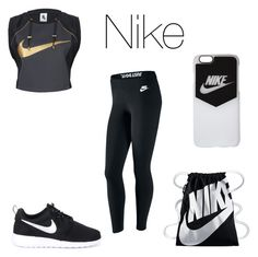 """""""Nike"""" by wildflower257 ❤ liked on Polyvore featuring NIKE"""