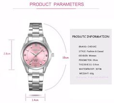 Womens Watches, Ladies Girls Dress  Luxury Women's Casual watches Rhinestones Fashion Waterproof Watches Item Type: Quartz Wristwatches Water Resistance Depth: 3Bar Case Shape: Round Dial Diameter: 28mm Band Length: 19cm Feature: Water Resistant,Shock Resistant Gender: Women Style: Fashion & Casual Clasp Type: Bracelet Clasp Case Material: Stainless Steel Band Material Type: Stainless Steel Boxes & Cases Material: No package Movement: Quartz Dial Window Material Type: Hardlex Case Thickness…