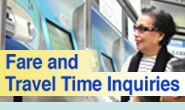 Fare and Travel Time for MRT transportation