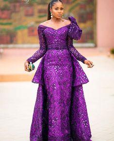Aso ebi lace gown styles beautiful Aso ebi Long gown Lace for wedding Lace Gown Styles, Aso Ebi Lace Styles, African Lace Styles, Ankara Styles For Women, African Lace Dresses, Kente Styles, African Fashion Dresses, Ghanaian Fashion, Nigerian Fashion