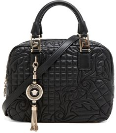 Versace black satchel