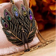 aliexpress.com Classical European vintage alloy peacock pendant necklace, Trendy women's fashion jewelry, Drop shipping, Promotional souvenir(China (Mainland))