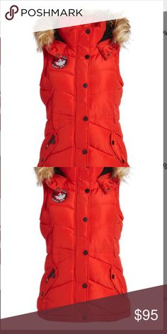 Canada Weather Gear Red Puffer Vest Large NWT Canada Weather Gear Red Faux Fur-Trim Hooded Puffer Vest Large. Keep it cozy and ensure unrestricted movement in this cozy puffer Vest that's topped with a Faux fur trimmed hood for an extra touch of warmth. Machine Wash Tumble Dry. Fits true to size Canada Weather Gear Jackets & Coats Vests