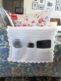 Your place to buy and sell all things handmade Diy Blanket Scarf, Chair Pockets, Bedside Caddy, Crochet Organizer, Craft Stick Crafts, Craft Sticks, Remote Control Holder, Distressed Wood Signs, Household Organization