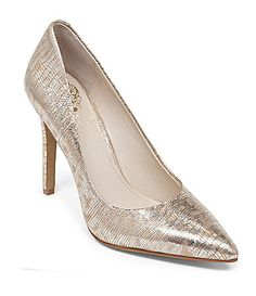Vince Camuto Kain PointedToe Pumps in Natural Metallic