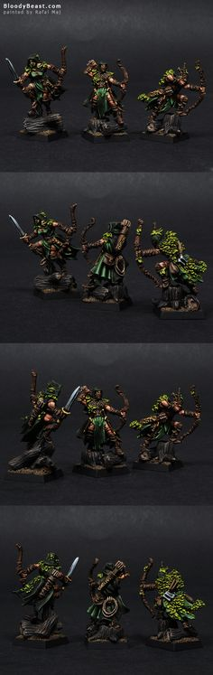 Wood Elves Waywatchers painted by Rafal Maj (BloodyBeast.com)