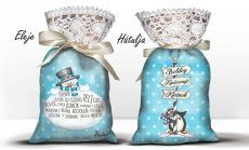 Karácsonyi álom zsák levendulával, pingvin és hóember