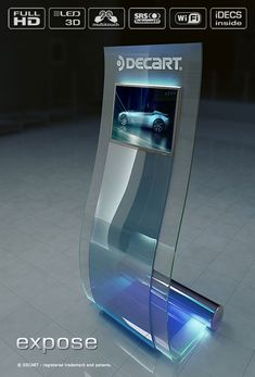 Multi-touch kiosk terminal EXPOSE 2010 | Patents & Design by brand-touch.eu