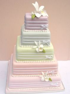 #Colourful #Wedding #Cake #Contemporary #Food