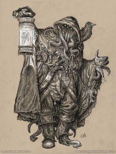 "creaturesfromdreams: ""Gray Wanderer by christopherburdett —-x—- More: | Cthulhu | Random |CfD Amazon.com Store| """