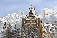 Fairmont Banff Springs in winter - photo by orangegirl.com