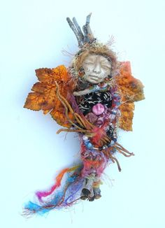 spirit dolls | Alchemist Moon, Gypsy Spirit Art Doll Assemblage art - Folk Art ...