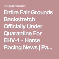Entire Fair Grounds Backstretch Officially Under Quarantine For EHV-1 - Horse Racing News | Paulick Report