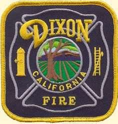 Dixon CA Fire Department Patch - #FirePatch #Firefighting #Setcom