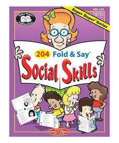 This 204 Fold & Say Social Skills Workbook Set by Super Duper Publications is perfect! #zulilyfinds