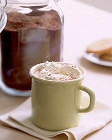 hot cocoa mix.  The recipe from the Hershey's cocoa powder made into a convenient mix!!!  Not the super sweet one.