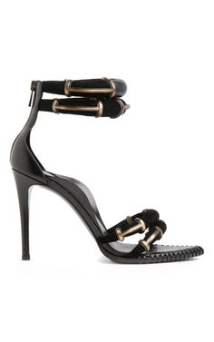 Black Runway Sandal by Anthony Vaccarello - Moda Operandi