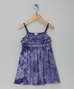 Take a look at this Purple Tie-Dye Ruffle Dress - Girls by Red Currant Kids on #zulily today!
