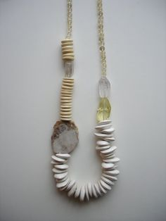 Chunky Cream colored necklace by megangreenejewelry on Etsy, $72.00