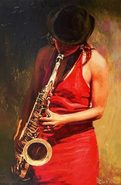 We offer contemporary modern painting by Alexey Slusar including oil, watercolor and charcoal. Music Painting, Music Artwork, Jazz Art, Jazz Music, Frida Art, Illustration Art, Illustrations, Music Images, Blue Art