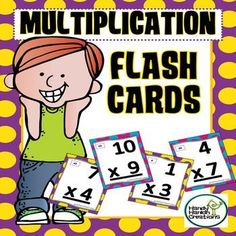 Learn your multiplication facts using these bright and colorful flash cards.Double sided flash cards have the answer on the opposite side in upper right corner.Card are color coded to match levels of difficultyPurple Dots 1-3 factsRed Dots 4-6 factsYellow Dots 7-9 factsBlue Dots 10-12 factsUse this product in small groups or as independent practice.