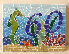 Número para residências em mosaico