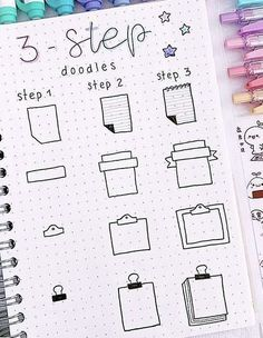 Free tutorials for bullet journal doodles to teach you how to draw a book standing up, an open book, a stack or pile of books, a bookshelf and more. Bullet Journal School, Bullet Journal Writing, Bullet Journal Banner, Bullet Journal Aesthetic, Bullet Journal Ideas Pages, Bullet Journal Inspiration, Bullet Journal For Beginners, Doodle Art For Beginners, Journal Fonts