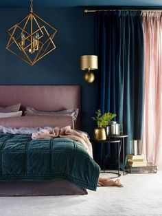 Stunning Interior Design Ideas You Probably Haven&;t Seen Before Stunning Interior Design Ideas You Probably Haven&;t Seen Before Olga Schnorr olaschnorr BEDROOM Amazing Interior Design Ideas You […] interior My New Room, Modern Bedroom, Dark Bedrooms, Adult Bedroom Decor, Teal Bedroom Decor, Budget Bedroom, Bedroom Curtains, Dark Romantic Bedroom, Edgy Bedroom