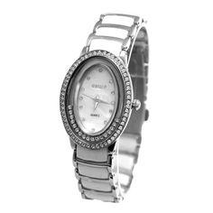FW886A Shiny Silver Band Elliptic PNP Shiny Silver Watchcase Women Fashion Watch