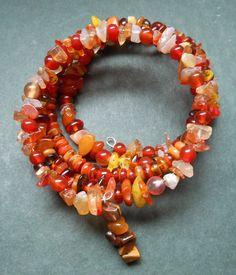 Memory Wire Earthtones Beaded Bracelet by RedRadishStudio on Etsy, $14.95 Beaded Necklace, Beaded Bracelets, Earth Tones, Wire, Jewellery, Studio, Handmade, Etsy, Hand Made