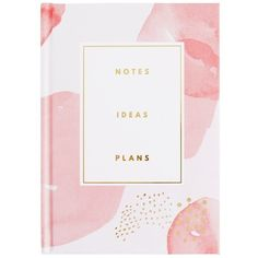 A5 FEATURE JOURNAL PINK THRIVE ($20) ❤ liked on Polyvore featuring home, home decor, stationery and filler