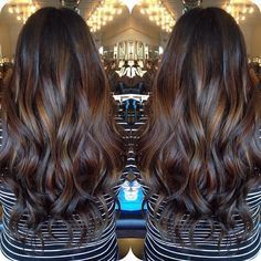 Dark brown balayage wavy hair with chocolate hairstyles Dark Hair With Highlights, Hair Color Dark, Brown Hair Colors, Dark Brown Hair With Low Lights, Golden Dark Brown Hair, Dark Brown Hair With Highlights And Lowlights, Indian Hair Highlights, Mocha Brown Hair, Indian Hair Color