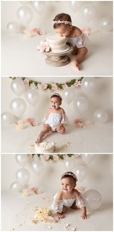 Cake Smash/One Year Session - Michelle Lee Photography