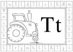 Alfabet dookoła - litera t - Printoteka.pl Diagram, School, Decor, Double Deck Bed, Speech Language Therapy, Therapy, Projects, Decoration, Schools